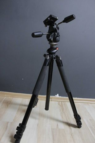 Statyw Manfrotto 055xPROB z głowicą Manfrotto 808RC4
