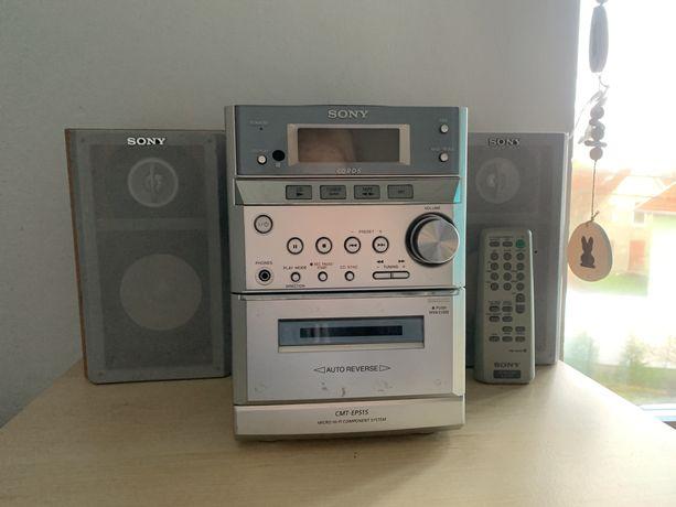 Mini wieża Sony z pilotem stereo radio cd
