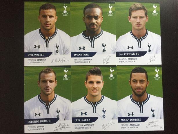 Pocztówki piłkarze Tottenham Hotspur