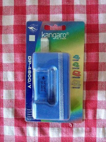 Дырокол металлический c линейкой Kangaro DP-480 G синий запечатанный.