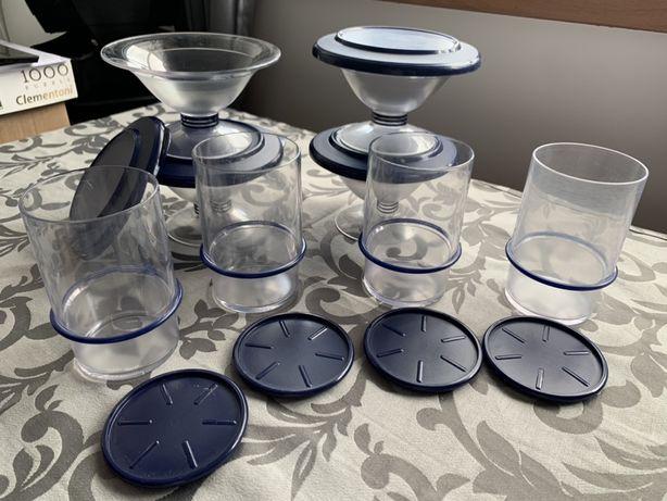 Taças sobremesa + copos+leiteira