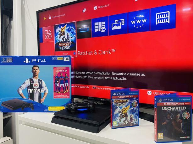 Playstation 4 Slim - Ta mesmo 5 estrelas