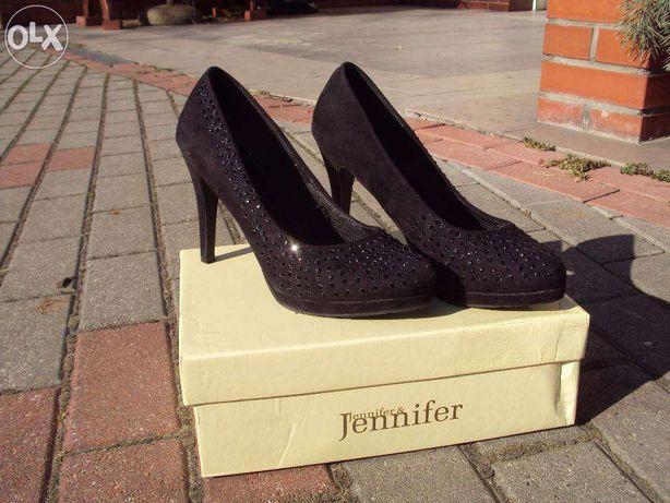 Półbuty (szpilki) czarne Jennifer&Jennifer