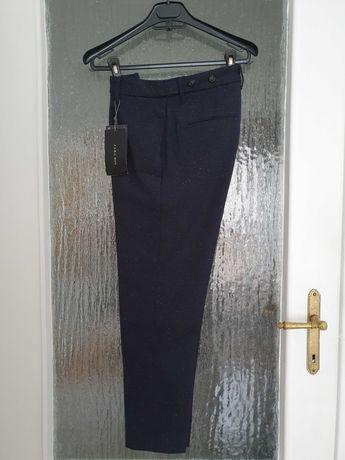 Nowe granatowe męskie spodnie Zara rozmiar 38
