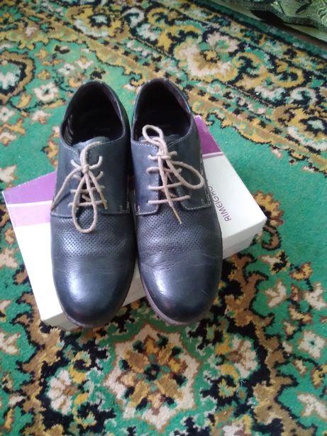 Туфли мужские кожаные разные