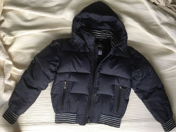Куртка зимняя Пуховик Мужская 70пух 30перо укороченная темно-синяя