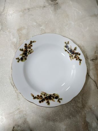 Ms china тарелки глубокие кедровая ветка шишки