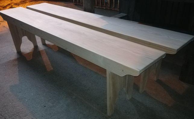 Banco comprido madeira