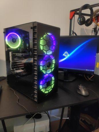 Pc ryzen 7 1700x c/rx560 4gb + monitor 24