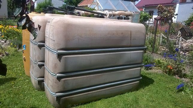 Zbiornik mauzer na paliwo wodę szambo ciecz 2000 l