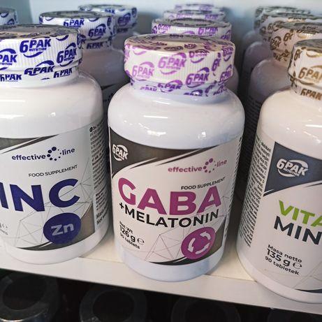 6PAK Nutrition GABA + Melatonina - 90 tabl Adaptogeny, Suplementy