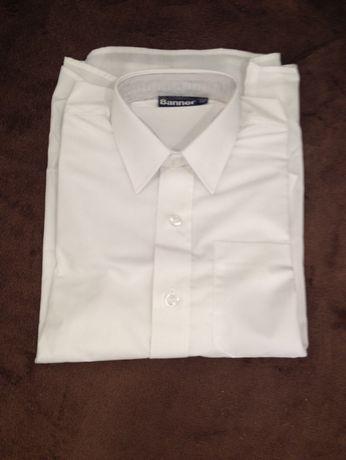 Новая белая рубашка Banner 9-10 лет, 146 см, р. 32. для мальчика