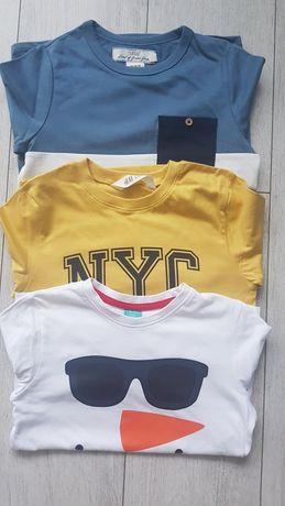 T-shirty firmy H&M rozmiar 110-116 (122)