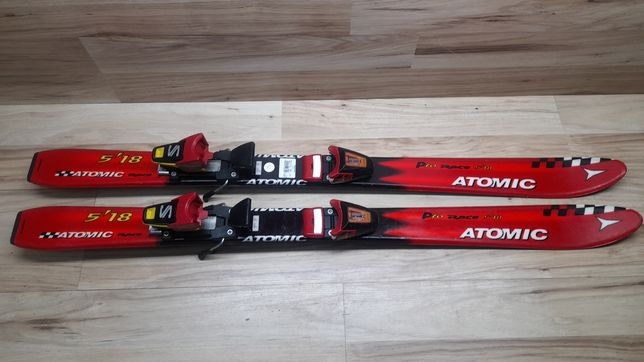 Tanio! Narty 110 cm ATOMIC Pro Race 5'18 wiazania