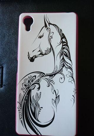 Чехол с лошадью на Sony f5122 новый