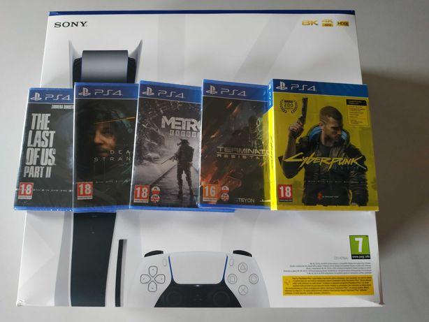 Nowa konsola SONY PlayStation 5 825 GB + 5 gier
