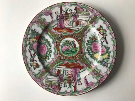 Prato de Porcelana Chinesa - Motivos Pessoas