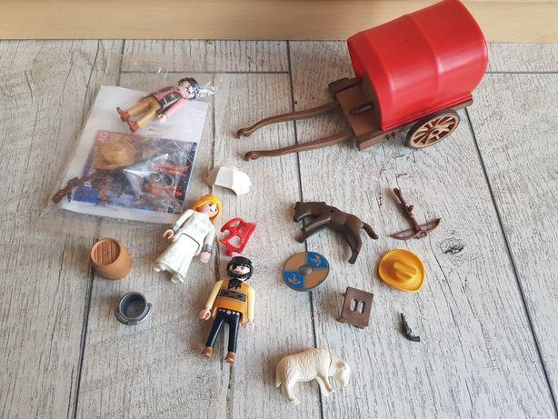 Playmobil 3891 bryczka zwierzęta wóz kowboj koń owca gospodarstwo