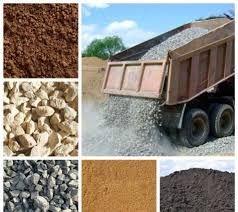 Чернозем, песок, отсев, щебень, глина суглинок, грунт на подсыпку