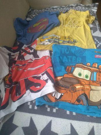 Zestaw Cztery bluzeczki bluzki zygzak złomek Hotwheels 104 supermen