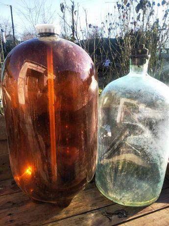 Бутыль пластмассовый на 30л , стекло продано