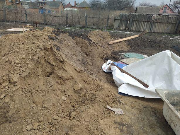 Глина после копки ямы