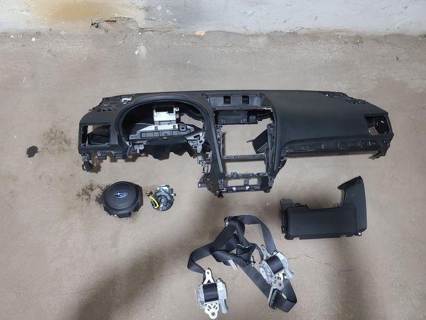 Безопасность AIRBAG Subaru Forester 2015-2018 руль торпедо колени