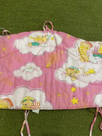 Защита бортики на детскую кроватку с мишками