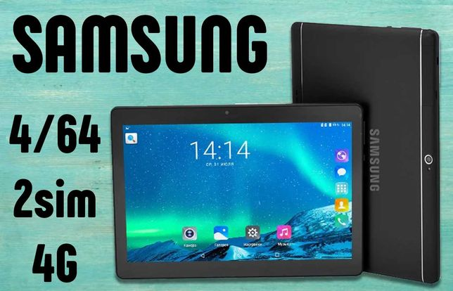 """Планшет новинка Самсунг Galaxy TAB 4/64ГБ, 10.1"""", 2-sim, GPS, IPS"""