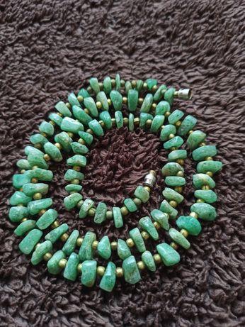 Korale, biżuteria, kamienie naturalne, zielone minerały