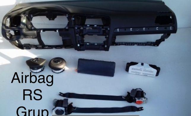 vw golf 7 tablier painel do bordo airbags cintos