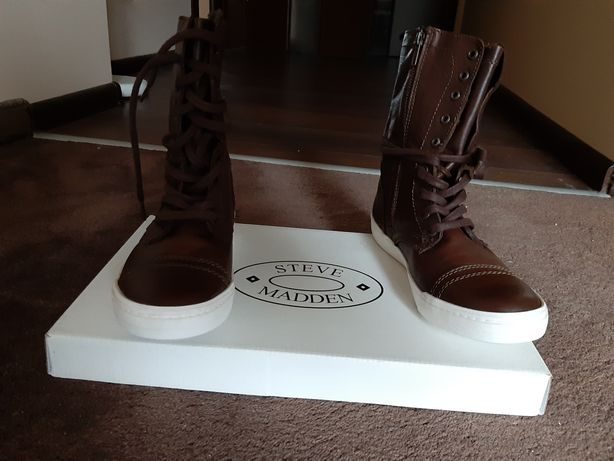 Nowe Skórzane buty kozaki  rozm. 39 Steve Madden