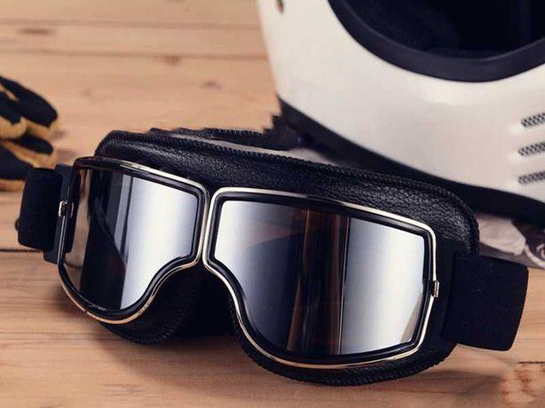 Óculos Tipo AVIATOR Motociclista Café Racer Vintage Carro Clássicos