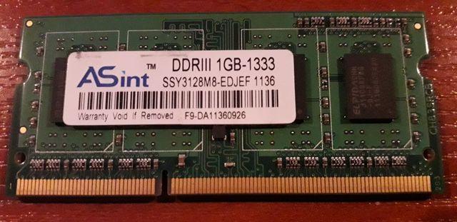 Оперативная память DDR3 1 ГБ