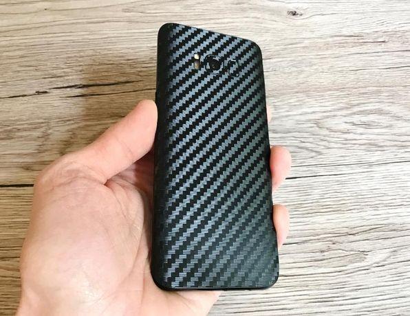 Плівка Карбон Метал Шкіру Samsung Galaxy S8 S9 Plus Note 8 9 10 пленка