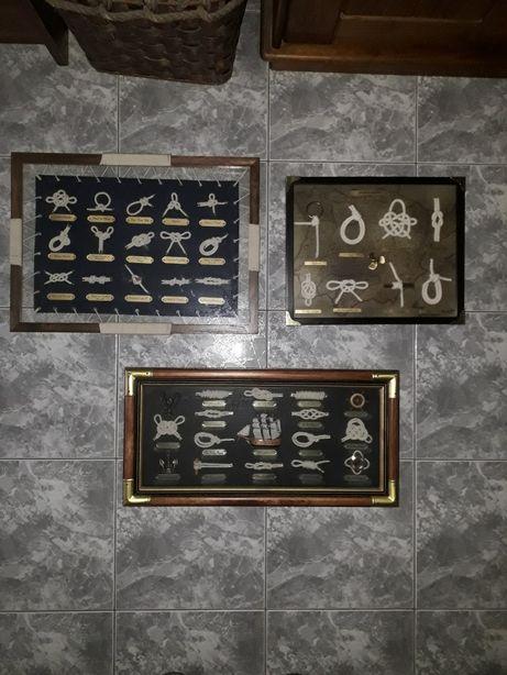 Lote de quadros de nós da marinha
