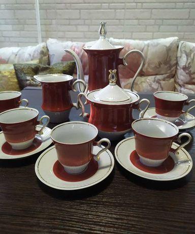 Сервиз кофейный 70-е СССР Барановка посуда тонкий фарфор винтаж
