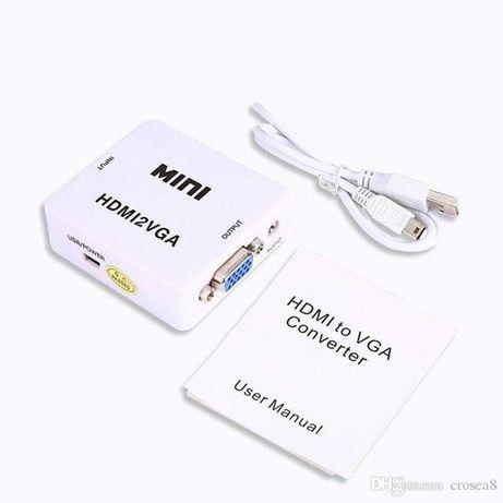 Adaptador Conversor HDMI para VGA - Conversor HDMI-VGA
