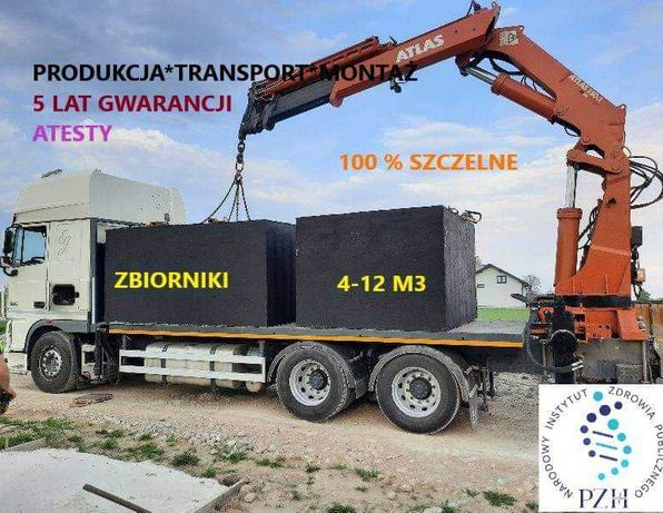 Szambo,  szamba, zbiorniki betonowe na deszczówkę 4,5,6,8,10,12 m3
