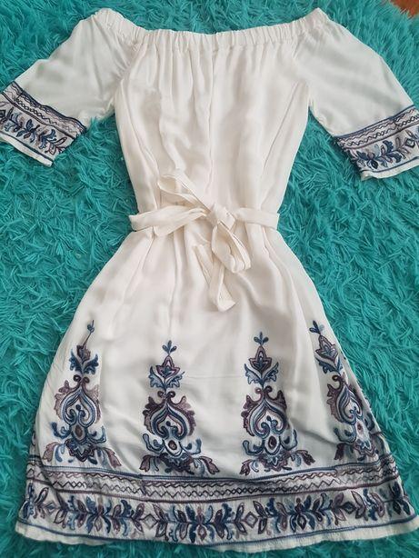 Sukienka boho hiszpanka blue shadow