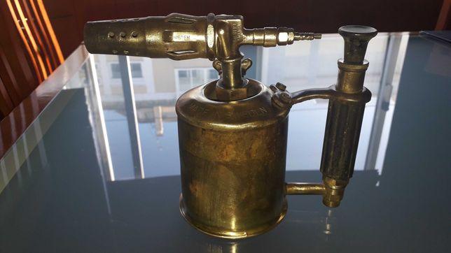 Maçarico antigo a Gasolina/Petróleo em Latão