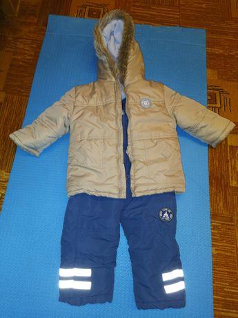 Костюм зимний куртка, комбез 80-86