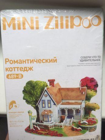 """3D пазл Mini Zilipoo """"Романтический коттедж"""". Для детей от 3 лет."""