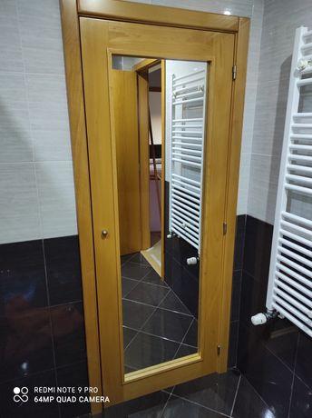 Porta em Madeira maciça faia com espelho