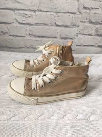 Złote buty trampki tenisówki jak nowe roz 28 (HM zara)