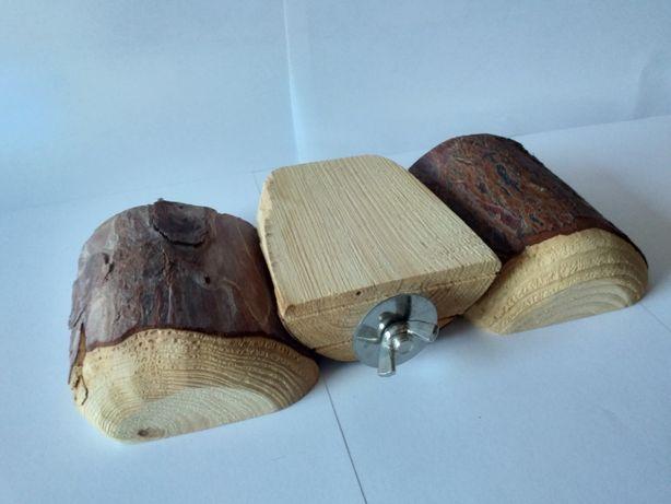 Akcesoria do klatki, drewniana półeczka (3szt.)