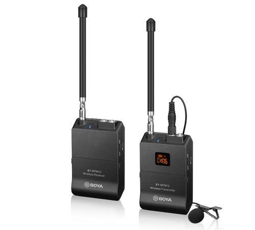 BOYA BY-WFM12 to 12-kanałowy system bezprzewodowy VHF
