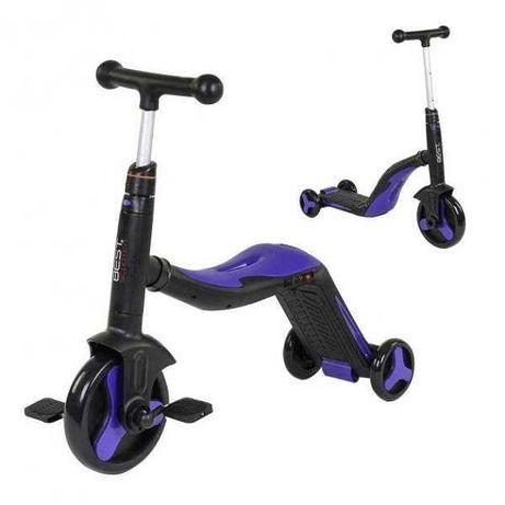 Самокат, велосипед, велобег 3 в 1 Best Scooter детский