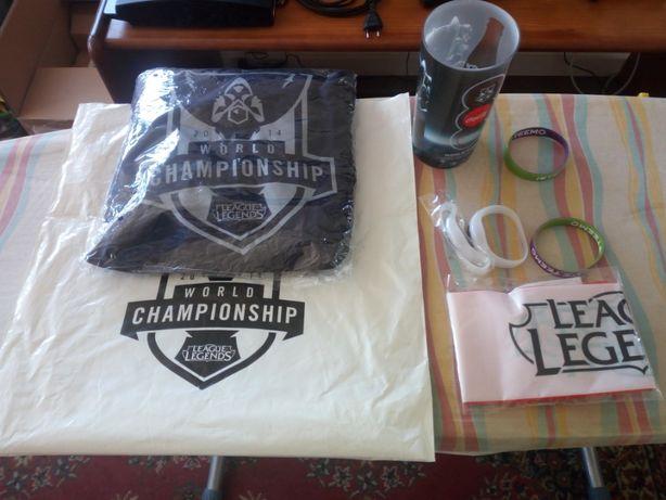 Conjunto Merchandise League of Legends Worlds 2014
