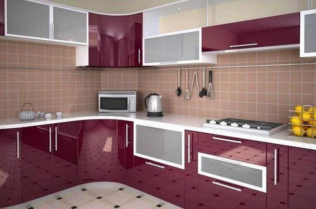 Кухни с акриловыми фасадами.Пластик.